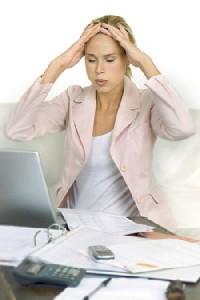 Переутомление - одна из причин спазма сосудов головы