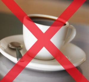 Исключить из рациона кофе и крепкий чай